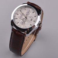 Precio de Gifts-El mejor regalo de 2015 nuevos de los hombres relojes de lujo de la manera hombres de la marca de cuarzo correa de cuero Relojes Relojes Beinuo shiping libre