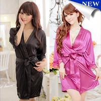 Wholesale Sexy Women Grown Sleep Wear Rayon Sleepwear Nightdress Robes Pajamas