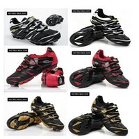 Wholesale Bicycle Shoes For Road Racing And Racing Athletic Shoes Mens Women Road Race Fibreglass Clips Racing Shoes Cycling Shoes