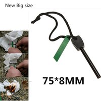 Wholesale New Portable Magnesium mm Flint Rod Flintstone For Outdoor Camping Emergency Camping Emergency Survival Tool Kits Big Size