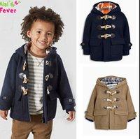Wholesale Angle of age season the new boy s fashion cowboy coat hooded coat The boy dust coat