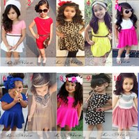 Wholesale 2 Year Baby Girls Dresses Fashion dress New spring summer short sleeved Baby girls Dress cotton Princess Dress Party dresses