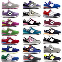 Wholesale 2016 New Bala Casual Running Shoes Man Woman run shoes New Hot Net rubber shoes Joker shoes letters shoes Students Running Shoes