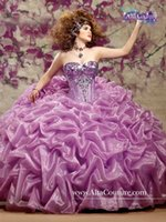 Cheap 2015 Yellow Purple Quinceanera Dresses Princess Ball Gown Sweetheart Sequins Tiered Organza Corset Bodice Prom Dress Gowns Customize Jacket