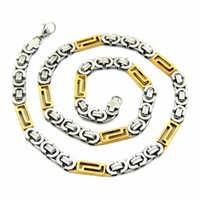 america beaded jewelry - Fashion Men s necklace crude stainless steel jewelry chain domineering male models in Europe and America chunky chain