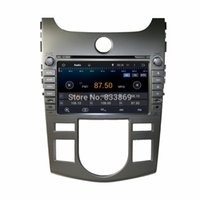 Wholesale 1024 Quad Core HD din quot Android Car PC Stereo Radio DVD for Kia CERATO FORTE AT With GPS G WIFI Bluetooth Car DVD