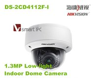 Wholesale HIKVISION Smart IPC DS CD4112F I MP Low light Indoor Dome Camera resolution HD P video POE IP Camera