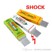 Wholesale Safety Trick Joke Toy Electric Shock Shocking Chewing Gum Pull Head