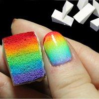 Wholesale 5 Pack Hot Sale Nail Art Magic Nail Art Sponges Creative Nail Design DIY Color Change Gradient Manicure