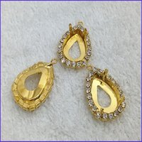 Wholesale Pear Pendant Claw With Supper Cup Chain For Fancy Stone Rhinestones holder