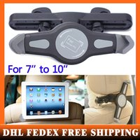Wholesale 200pcs DHL EMS free New Car black Back Seat Headrest Mount Holder For inch for Samsung for iPad air mini Tablet