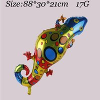 aluminium foil suppliers - Pet Gecko Foil Balloon Birthday Party Decoration Supplier Cute Toy For Kids On Children s Day Hot Sale