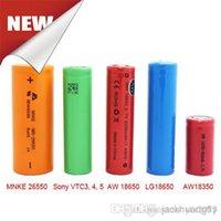 Cheap Genuine MNKE AW VTC Sony Batteries 18350 18500 18650 26650 Battery For Ecig Mechanical Mod vs penny king panzer Fedex Ship
