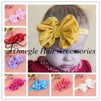 Cheap hair Accessories Best baby girls flower headbands