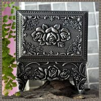 ark jewelry - Classical European princess jewelry box Luxury small ark Metal Gothic retro small jewelry box models storage box