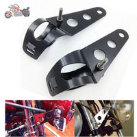 Wholesale 35 mm Motorcycle FORK Motorbike Headlight Mounting Bracket Black Head Lamp Holder Fork Chopper Bobber Cafe Racer