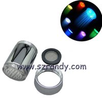 battery shower - 3 Color LED Light Change Faucet Shower Water Tap Temperature Sensor No Battery Aerator