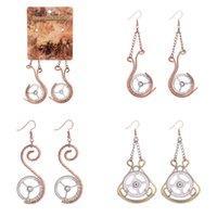 antiqued silver earrings - New Steampunk Earring Vintage Antiqued Silver Gear Dangle Chandelier Earrings For Women Popular Pendientes Handmade DIY Bijoux