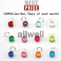 Wholesale mixed Birthstone floating charms mm crystal for for Personalized Necklace Jan Dec of each month