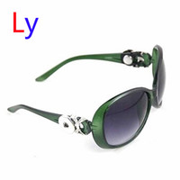 asian fit goggles - Green Ginger Snap Button Women Sunglasses Goggle Glasses Eyewear UV Protection Sunglasses Fit Snap button jewelry AC225