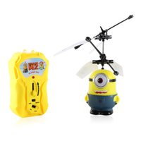 toy rc aircraft - Hot sales despicable me flying minion toys rc helicopter Children s gifts remote control aircraft flying
