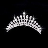unique hair accessories - Sparkly Unique Noble Rhinestones Crowns Bridal Wedding Party Prom Hair Accessories Tiara bridal Headdress Fashion Classic