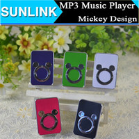 mouse card reader - Cute Cartoon Animal Mickey Mouse Design Mini MP3 Music Player Support Micro SD TF card GB with Earphone USB Cables Crystal Boxes