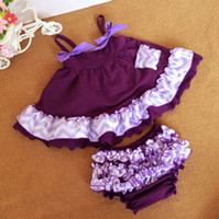 chevron clothing - Newborn Kids Clothes Baby Girls Chevron Swing Top Set Ruffle Toddle Swing Dress Baby Top and Bloomer Set