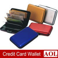 Plain business cards - 9 colors Aluminum Credit Card Business Wallet Case Card Holder Protection Organizer promotion gifts DHL free