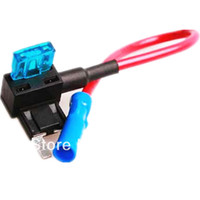 Wholesale New Mini Fuse Tap Add on Dual Circuit Adapter Auto Car Auto Terminals Auto insurance electrical appliances order lt no track