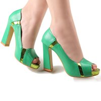 Wholesale Brand New Luxury Dress Shoes Girl Nightclub Prom Shoes inch High heeled Bride Wedding Shoes DY2049 Green