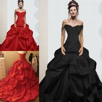 activities image - Real images Applique flowers Vintage Activity spaghetti straps Quinceanera dresses party evening Black Gothic Ball Gown Wedding Dresses