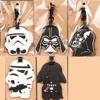 Wholesale HOT SALE Hight Quality Star Wars lovely Star Wars Stormtrooper Black Knight PVC luggage tags Travel Name Tag