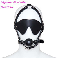 ball gags harness - PU Leather Adjusted Goggles Mouth Gag Sex Bondage toys Harness type gag Adult Games For Couples Mouth Gagged Ball Fetish Mask For Halloween