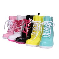 rubber boots - 2015 new fashion hot sale lace up women rain boot with heels waterproof cheap women rubber rain boots plus big size QYT A