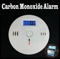Wholesale LCD Wireless Home Security Safety Detector CO Carbon Monoxide Poisoning Natural liquefied Gas Sensor Alarm Smoke Alerter Warner LED Display