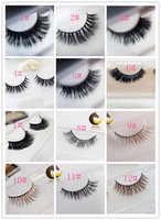 Wholesale False eyelash Hyper realistic top luxury pure manual horsehair false eyelash natural messy thick cross