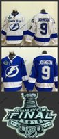 Ice Hockey bay patch - Hot Item tampa bay tyler johnson lightning blue white Ice Hockey Jerseys with Final Stanley Cup Patch Accept Mix order