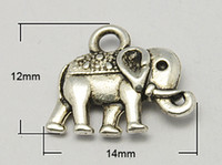 elephant charms - Vintage Elephant Charms Tibetan Style Charms Lead Free and Nickel Free Antique Silver x14x2 mm Hole mm