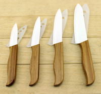 Wholesale High Quanlity quot quot quot quot Ceramic Knife Wood Handle Cooking Tools Set Best Fruit Knife and Kitchen Knives Set