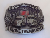 animal drivers - Truck Drivers belt buckle with Pewter finish SW S90 suitable for cm wideth belt with continous stock