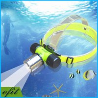 Wholesale Waterpoof Diving Torches Headlamp Headlight Head Lantern CREE XML T6 LED Headlamp Underwater Light Swimming Flashlight Charger
