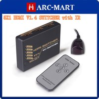 Marcmart Yes Multimedia High quality 5X1 HDMI V1.4 Switcher with IR 1080P Video HDMI Switch Switcher HDMI Splitter with IR Remote Splitter Box #CG095
