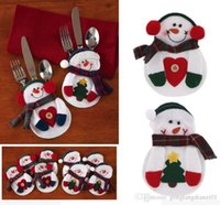 Wholesale Cute Merry Christmas Xmas Tableware Silverware Dinner Party Decoration Cutlery Holder