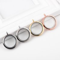 magnetic pendant - Canlyn Jewelry Quality Glass Circle Magnetic mm Memory Floating Charm Locket Pendant Necklace DIY Jewelry