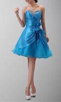 art fine lines - Fine Workmanship Sweetheart Sequins Ruched Asymmetrical Taffeta Flower Waisrt Tulle Hem Cheap Homecoming Dresses Blue Top Sell