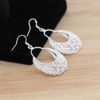 Cheap 10 pairs lot 925 Sterling Silver Women Crystal Dangle Earrings Fashion Jewelry SF429*10