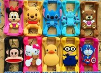 cartoon character - Universal Silicone Bumper Frame Cartoon Character Case Mickey Bear Stitch Monster Doll for iPhone s Samsung s6 HTC LG Sony Nokia