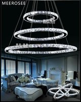 Wholesale European LED Crystal Ring Pendant Light Energy Saving Crystal Chandeliers Light Cristal Pendant Lamp DIY Style MD8825