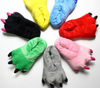 Wholesale 2014 hot sell baby shoes Dinosaurs Stitch plush cotton slippers for winter warmer care for your family with high quality
